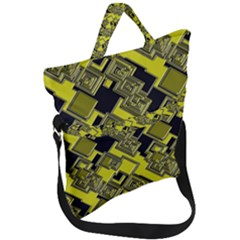 Seamless Pattern Background Fold Over Handle Tote Bag