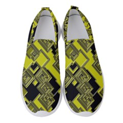 Seamless Pattern Background Women s Slip On Sneakers