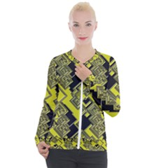 Seamless Pattern Background Casual Zip Up Jacket