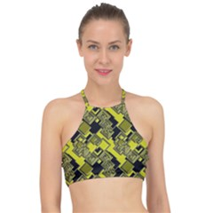 Seamless Pattern Background Racer Front Bikini Top