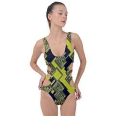 Seamless Pattern Background Side Cut Out Swimsuit