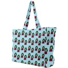 Girl With Green Hair Pattern Simple Shoulder Bag