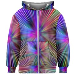 Rays Colorful Laser Ray Light Kids  Zipper Hoodie Without Drawstring