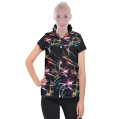 Lights Star Sky Graphic Night Women s Button Up Vest