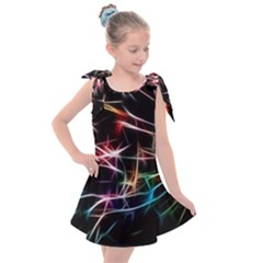 Lights Star Sky Graphic Night Kids  Tie Up Tunic Dress