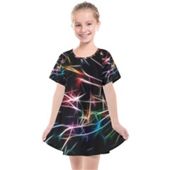 Lights Star Sky Graphic Night Kids  Smock Dress by HermanTelo