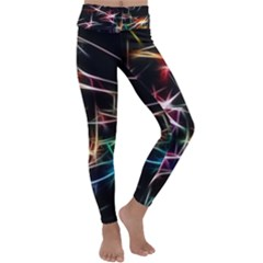 Lights Star Sky Graphic Night Kids  Lightweight Velour Classic Yoga Leggings