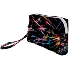 Lights Star Sky Graphic Night Wristlet Pouch Bag (small)