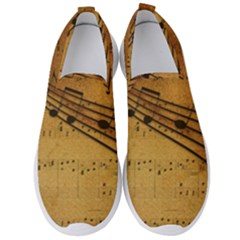 Background Music Men s Slip On Sneakers by Mariart