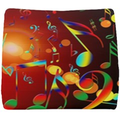 Dance Music Treble Clef Sound Seat Cushion by AnjaniArt