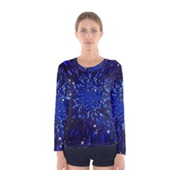Star Universe Space Starry Sky Women s Long Sleeve Tee