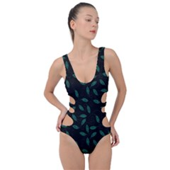 Copper Leaves Side Cut Out Swimsuit by bloomingvinedesign