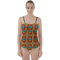 Seamless Twist Front Tankini Set by Sobalvarro