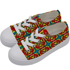 Seamless Kids  Low Top Canvas Sneakers by Sobalvarro