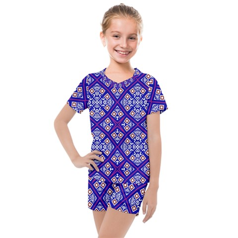 Symmetry Kids  Mesh Tee And Shorts Set by Sobalvarro
