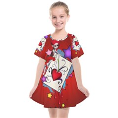 The Red Card Heart A With Fairy Kids  Smock Dress