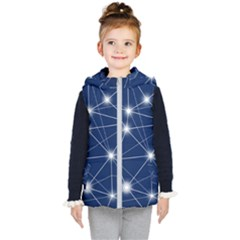 Network Technology Digital Kids  Hooded Puffer Vest by HermanTelo