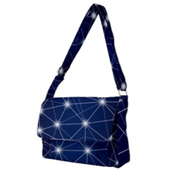 Network Technology Digital Full Print Messenger Bag by HermanTelo