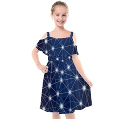 Network Technology Digital Kids  Cut Out Shoulders Chiffon Dress