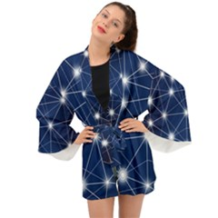 Network Technology Digital Long Sleeve Kimono