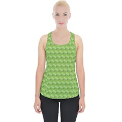 Green Pattern Ornate Background Piece Up Tank Top