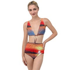 Sunset Water River Sea Sunrays Tied Up Two Piece Swimsuit