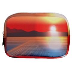 Sunset Water River Sea Sunrays Make Up Pouch (small)