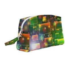 Background Bokeh Light Circle Wristlet Pouch Bag (medium)