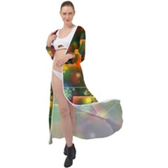 Background Bokeh Light Circle Maxi Chiffon Beach Wrap