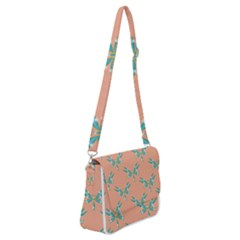 Turquoise Dragonfly Insect Paper Shoulder Bag With Back Zipper