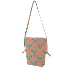 Turquoise Dragonfly Insect Paper Folding Shoulder Bag
