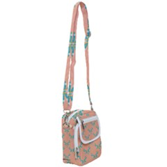 Turquoise Dragonfly Insect Paper Shoulder Strap Belt Bag