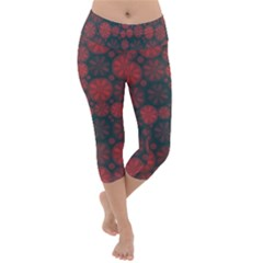 Zappwaits California Lightweight Velour Capri Yoga Leggings