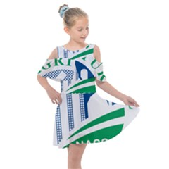 Logo Of Usda National Agricultural Statistical Service Kids  Shoulder Cutout Chiffon Dress by abbeyz71
