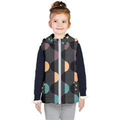 Abstract Background Modern Design Kids  Hooded Puffer Vest by Wegoenart