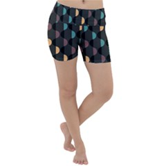 Abstract Background Modern Design Lightweight Velour Yoga Shorts