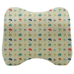 Clouds And Umbrellas Seasons Pattern Velour Head Support Cushion by Wegoenart
