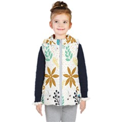 Design Nature Color Modern Kids  Hooded Puffer Vest by Wegoenart