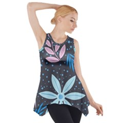 Pattern Nature Color Banner Modern Side Drop Tank Tunic by Wegoenart