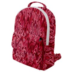 Background Abstract Surface Red Flap Pocket Backpack (small) by Wegoenart