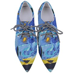 Painting Illustrations Vincent Van Gogh Women s Pointed Oxford Shoes