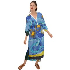 Painting Illustrations Vincent Van Gogh Grecian Style  Maxi Dress