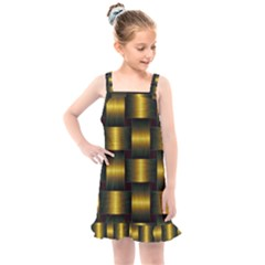 Background Pattern Desktop Metal Gold Golden Kids  Overall Dress