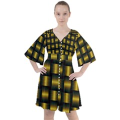 Background Pattern Desktop Metal Gold Golden Boho Button Up Dress