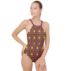 Abstract 41 High Neck One Piece Swimsuit