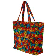 Abstract 42 Zip Up Canvas Bag