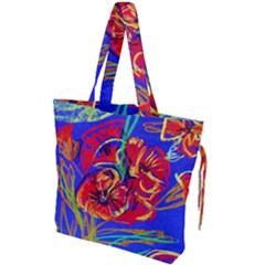 Poppies Drawstring Tote Bag