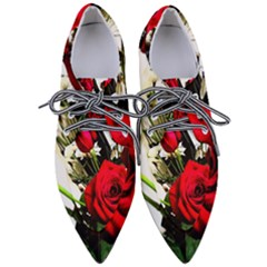 Roses 1 1 Women s Pointed Oxford Shoes
