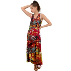 July 1 1 V Neck Chiffon Maxi Dress