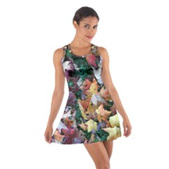 Scattered Leaves Cotton Racerback Dress